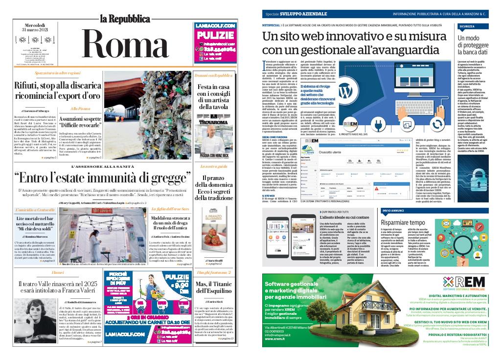 XREM presentato su Repubblica