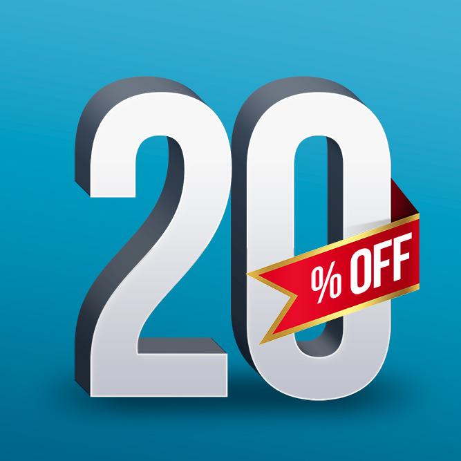 Sconto 20 percento